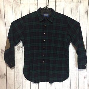 Pendleton Wool Shirt Mens XL Black Watch Tartan